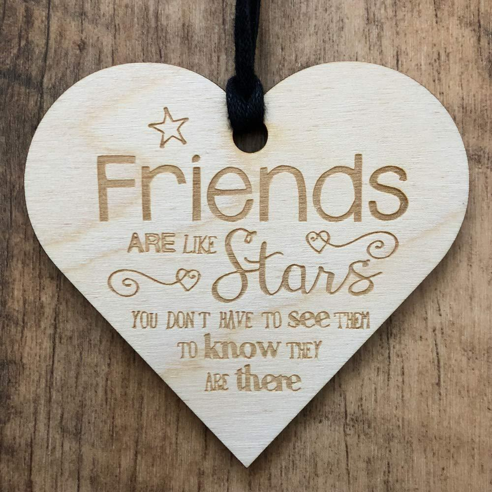 Friends are like stars Wooden Plaque Gift - ukgiftstoreonline