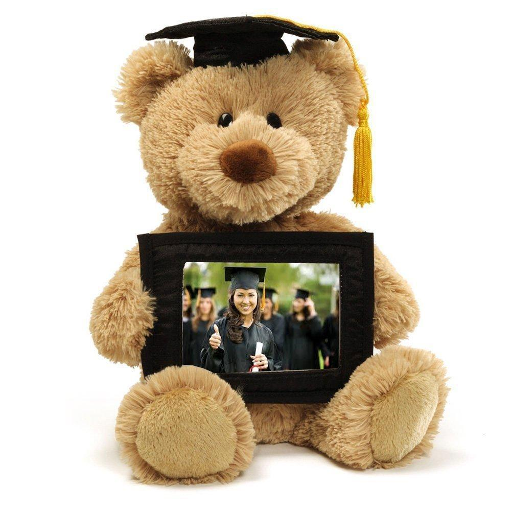 Graduation Bear Gift Plush With Photo Memory Keepsake - ukgiftstoreonline