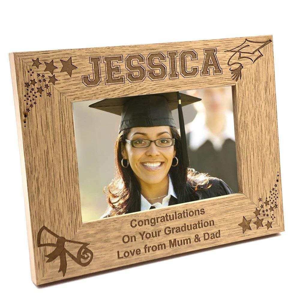 Graduation Day Personalised Stars and Hat Photo Frame Gift - ukgiftstoreonline