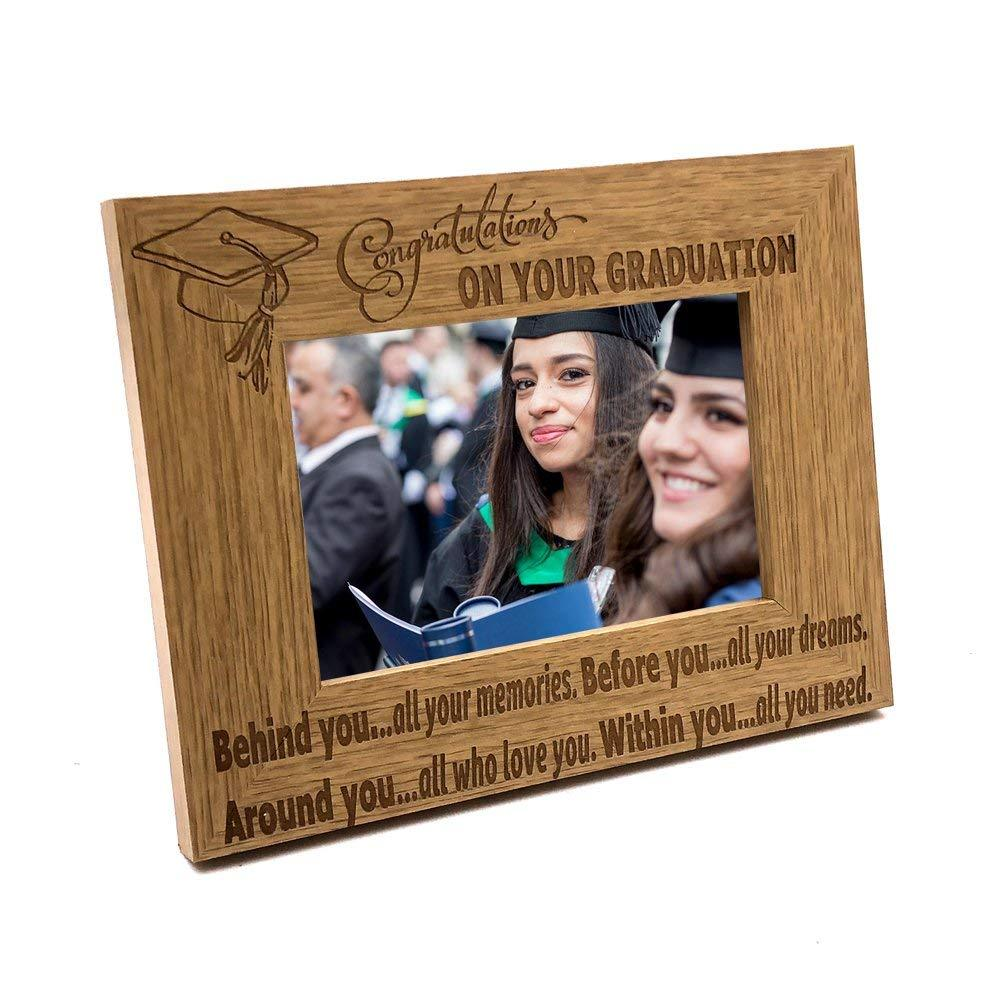 Graduation Memories and Dreams Gift Wooden Photo Frame - ukgiftstoreonline