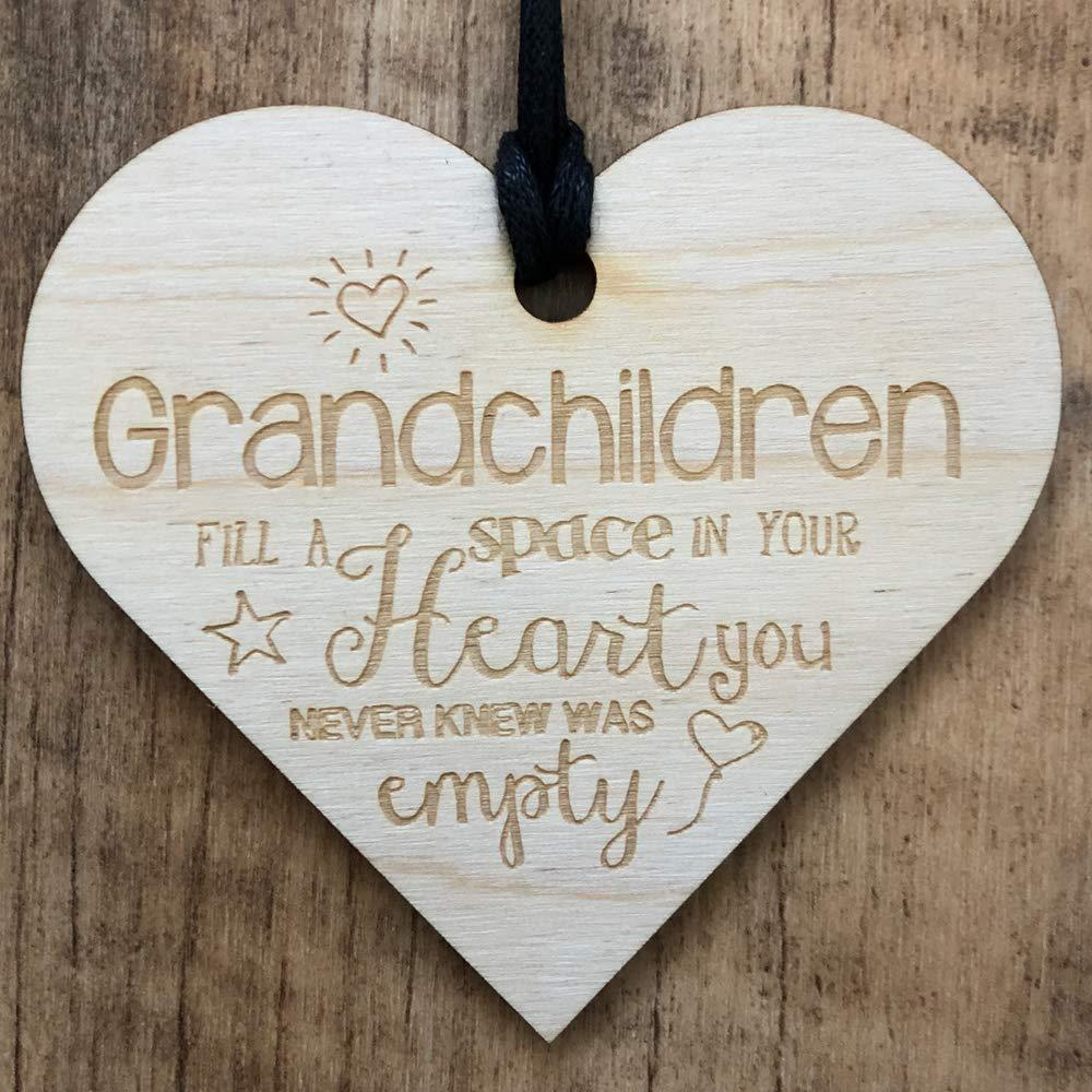Grandchildren Fill A Space In Your Heart Wooden Plaque Gift - ukgiftstoreonline
