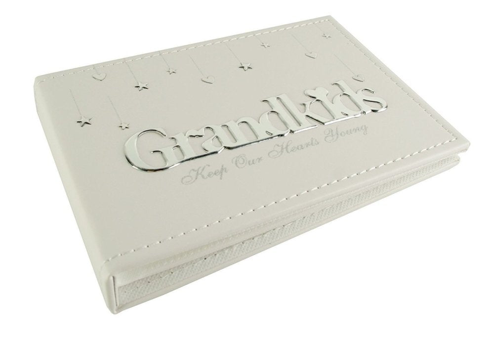 "Grandkids Photo Album Grandparent Gift from Grandchildren - Holds 4"" x 6"" - ukgiftstoreonline"