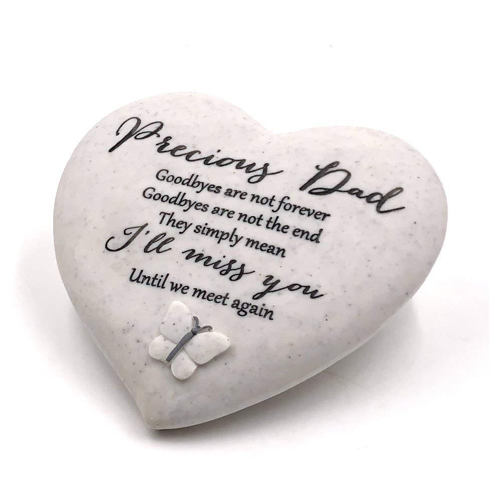 Graveside Memorial Precious Dad Remembrance Heart Ornament - ukgiftstoreonline