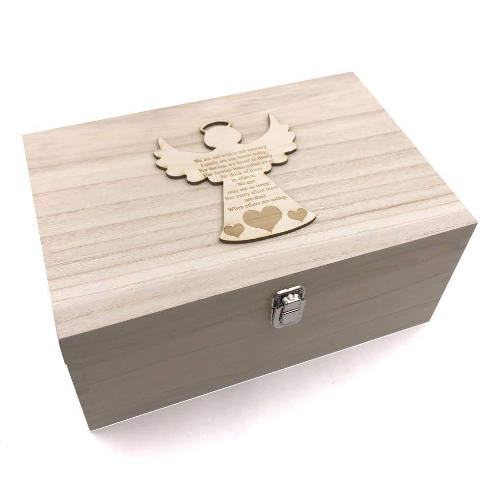 Guardian Angel Memorial Remembrance Large Memories Keepsake Box - ukgiftstoreonline