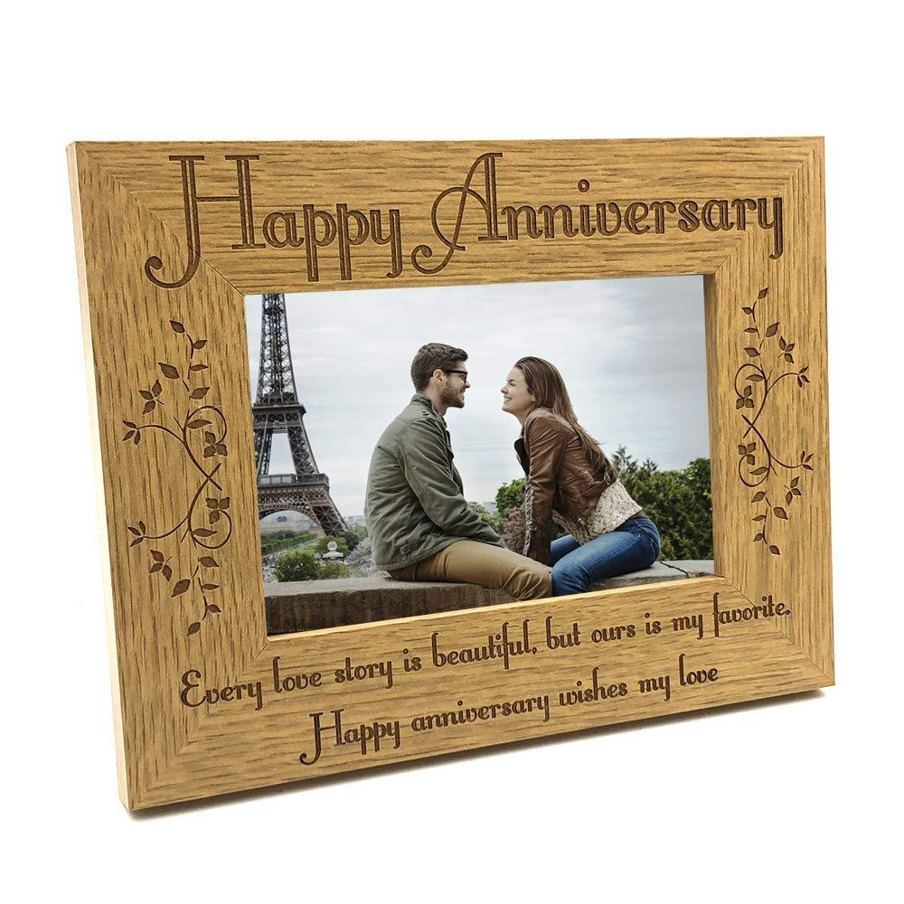Happy Anniversary My Love Wooden Photo Frame - ukgiftstoreonline
