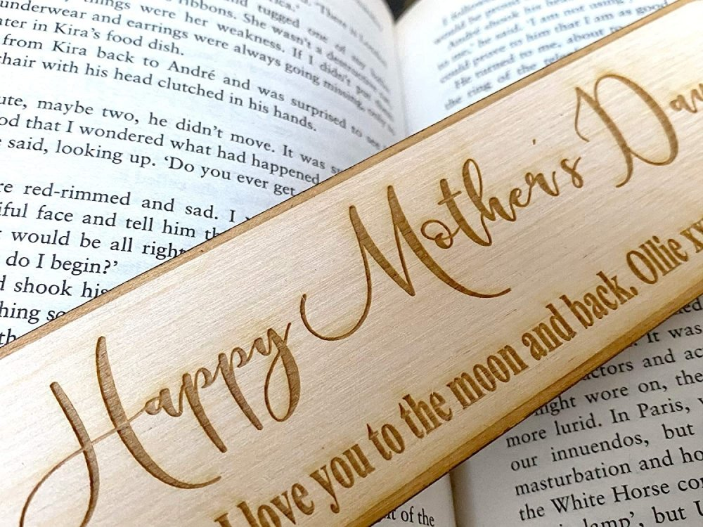 Happy Mother Day Gift Personalised Wooden Engraved Bookmark - ukgiftstoreonline