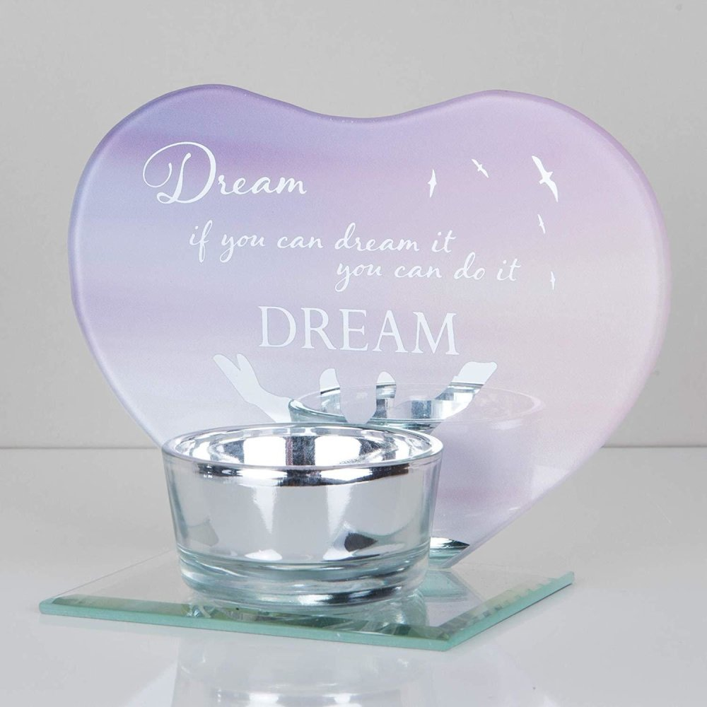 Heart Shaped Dream Tea Light Holder Gift - ukgiftstoreonline