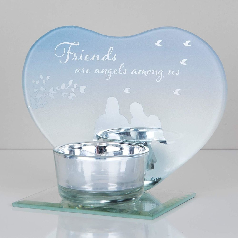 Heart Shaped Friends Tea Light Holder Gift - ukgiftstoreonline