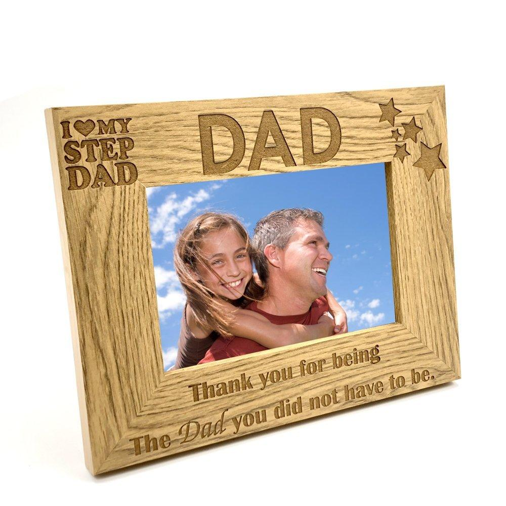 I Love My Stepdad Wooden Photo Frame Gift - ukgiftstoreonline