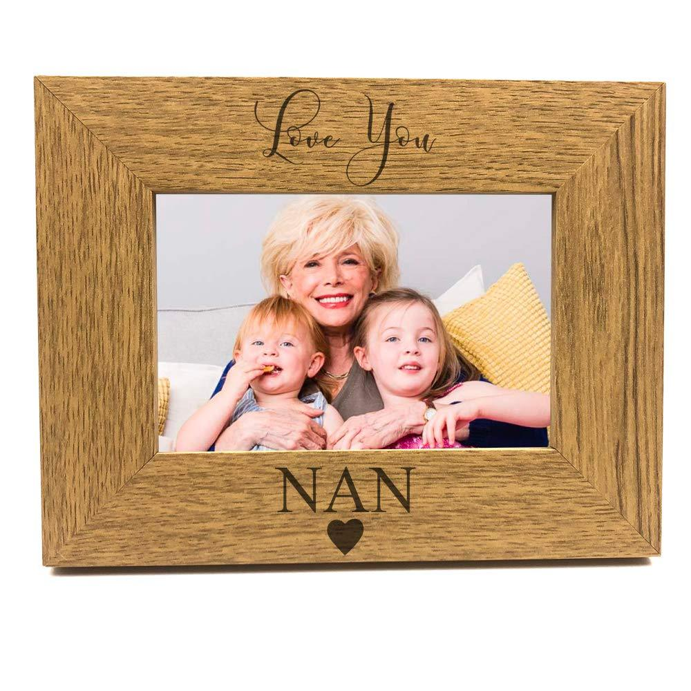 Love You Nan Engraved Wooden finish Photo Frame - ukgiftstoreonline