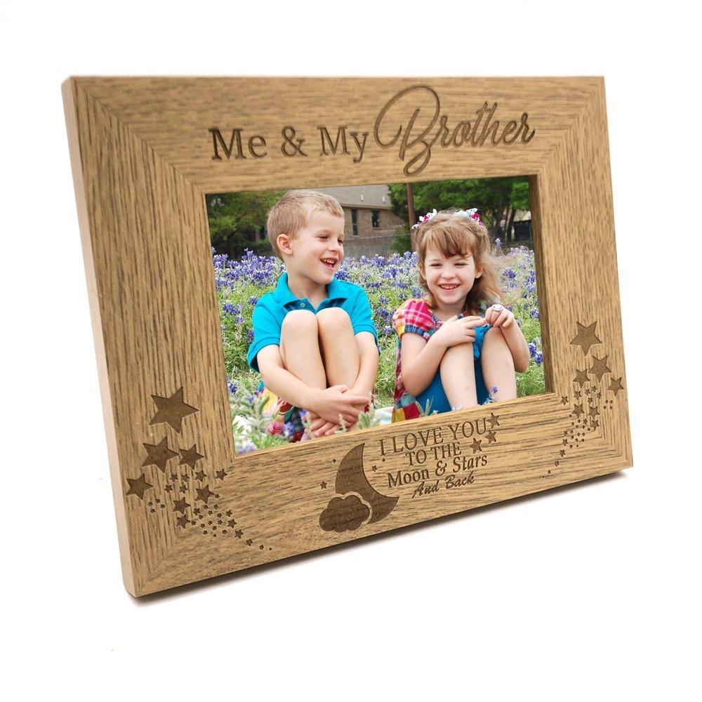 Me and My Brother Love You To The Moon Photo Frame Gift - ukgiftstoreonline