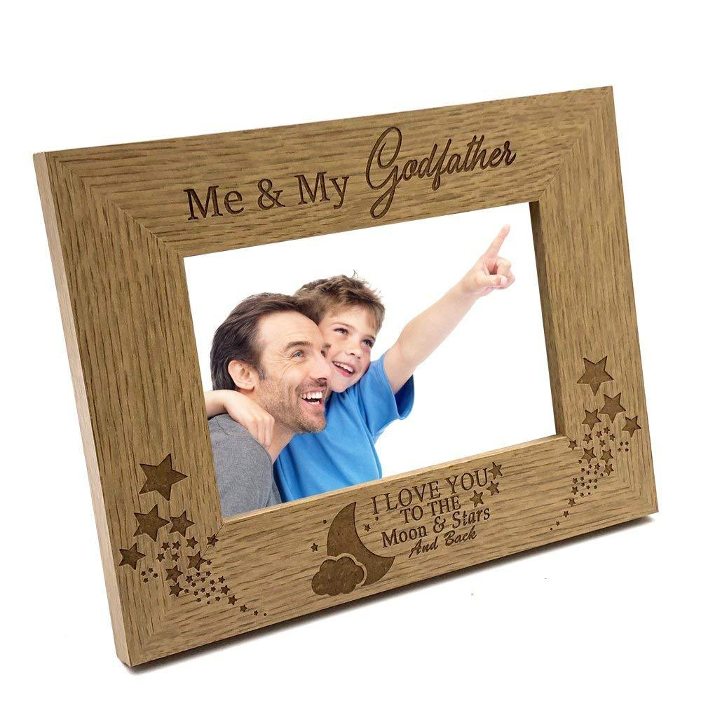 Me and My Godfather Love You To The Moon Photo Frame Gift - ukgiftstoreonline