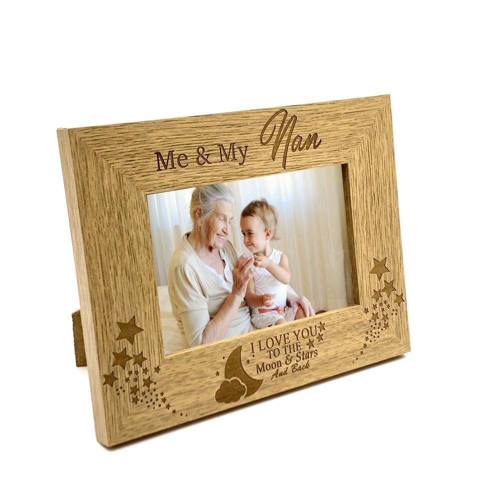 Me and My Nan Love You To The Moon Photo Frame Gift - ukgiftstoreonline