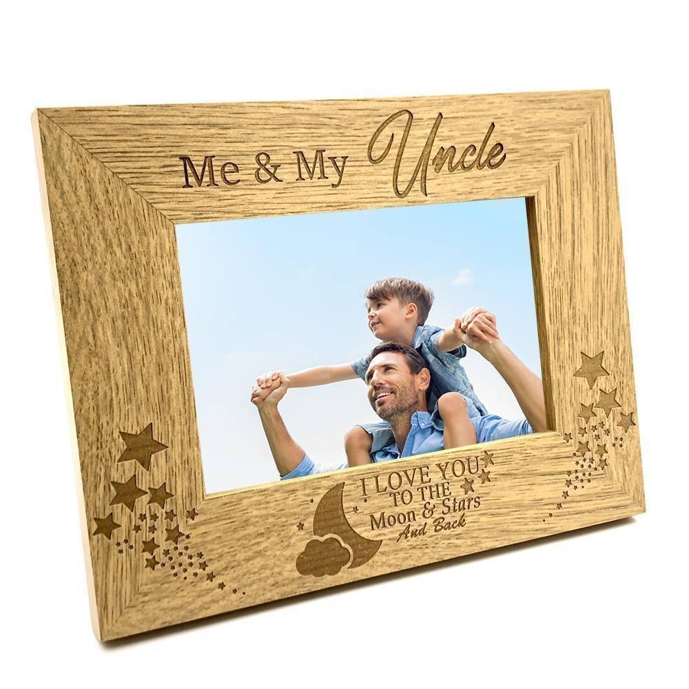 Me and My Uncle Love You To The Moon Photo Frame Gift - ukgiftstoreonline