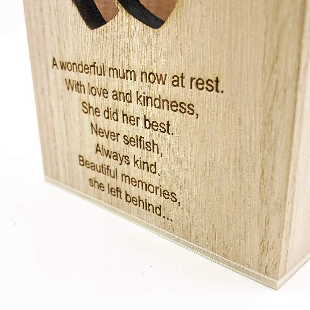 Memorial Mum Remembrance Sentiment LED Tealight Holder Keepsake - ukgiftstoreonline