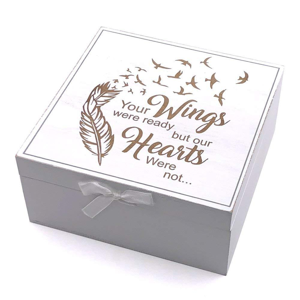 Memorial Remembrance Keepsake Box Vintage Style wooden Memories - ukgiftstoreonline
