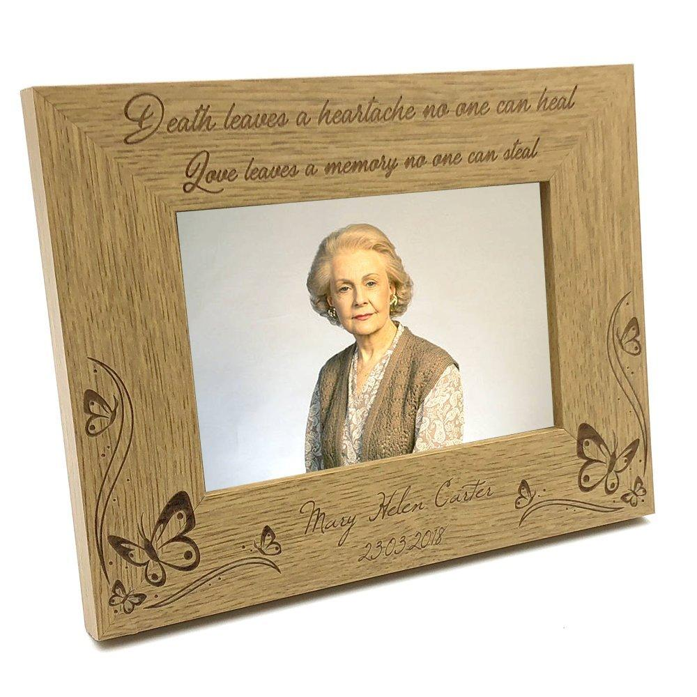 Memorial Remembrance Wooden Photo Frame Love Leaves A Memory - ukgiftstoreonline
