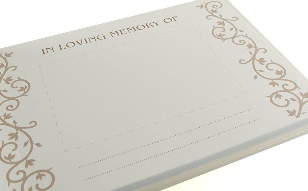 Memory Funeral Book / Book Of Condolence or Remembrance Guest Book - ukgiftstoreonline