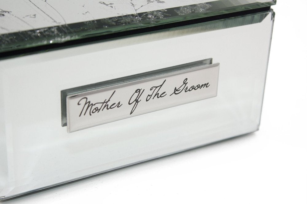 Mother Of The Groom Gift Beautiful Mirror Butterfly Jewellery Box - ukgiftstoreonline