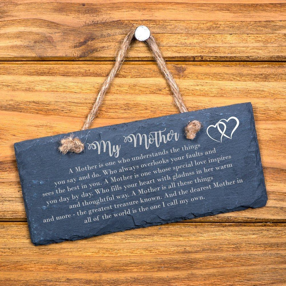 Mother Verse Sentiment Gift Slate Plaque - ukgiftstoreonline