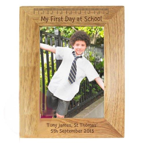 My First Day At School 5x7 Oak Frame Back, to, School, Gift - ukgiftstoreonline