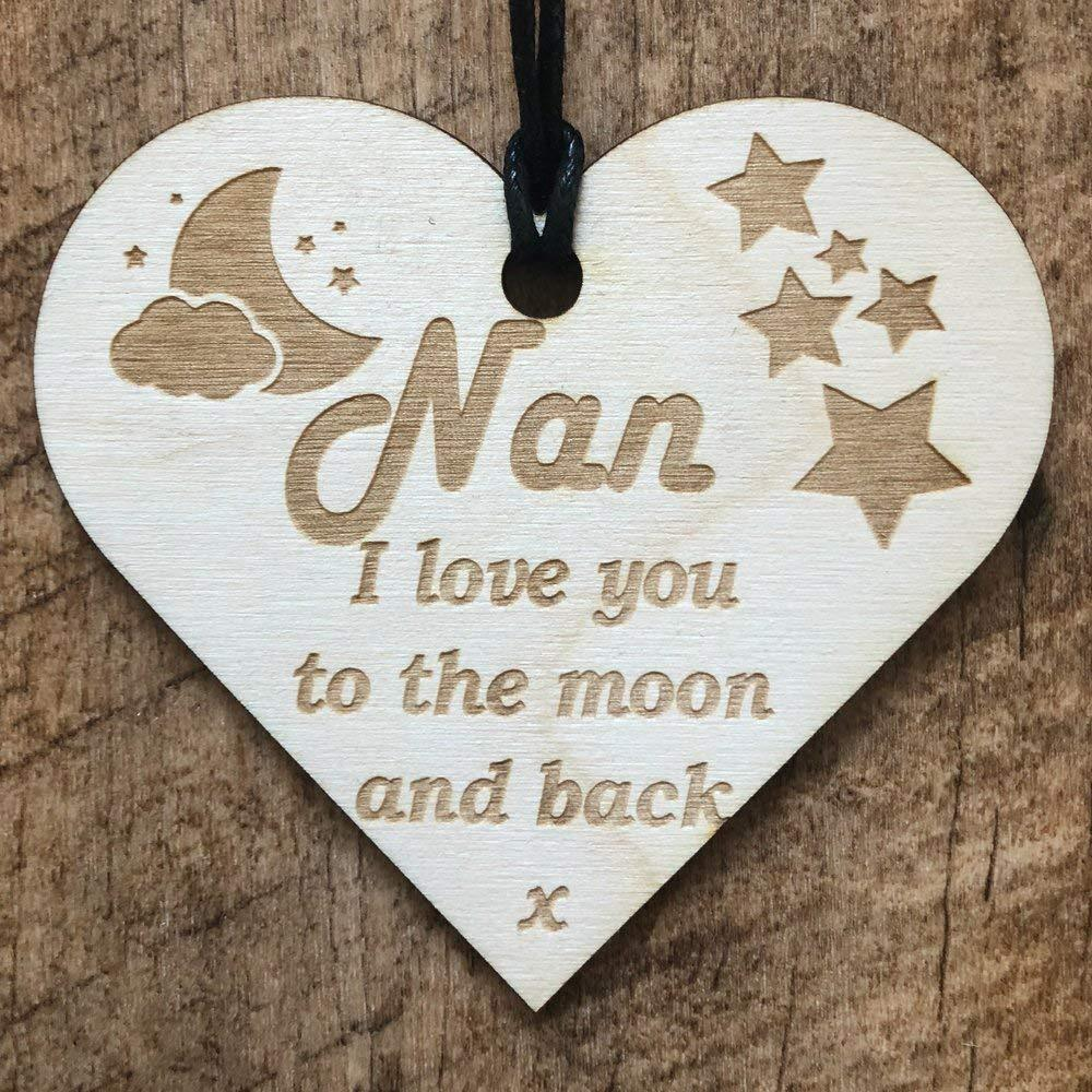 Nan I Love You To The Moon Wooden Plaque Gift - ukgiftstoreonline