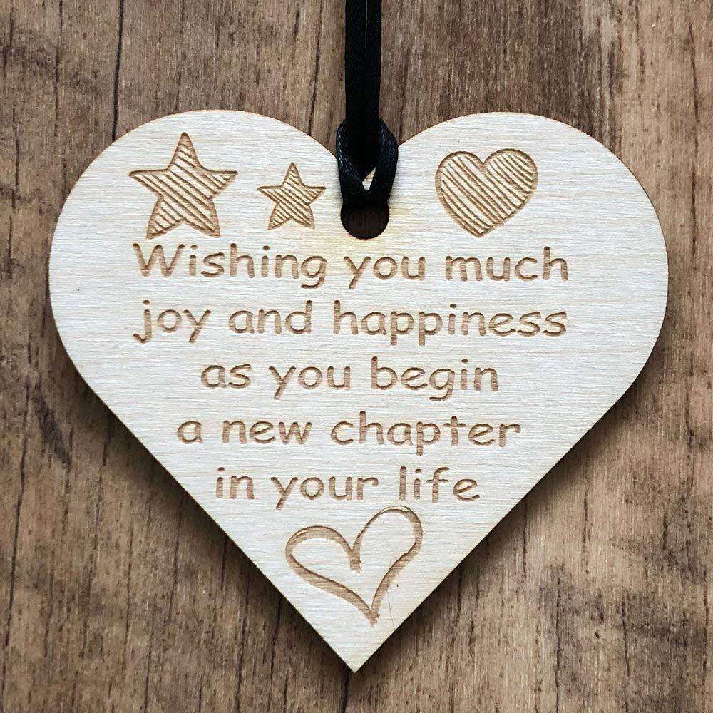 New Chapter Colleague Heart Plaque Sign Friendship FRIEND Leaving New Home Thank You Goodbye Gift - ukgiftstoreonline