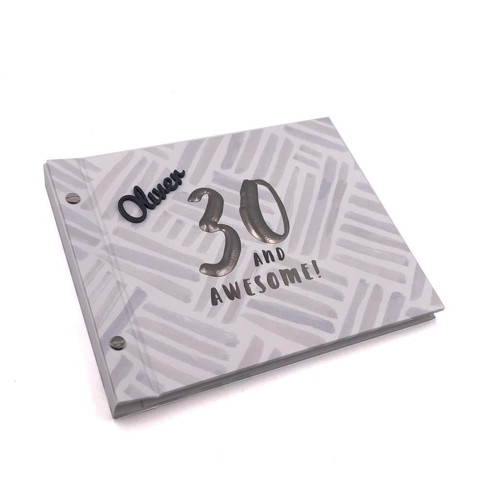 Personalised 30th Birthday Male Guest Book Photo Album - ukgiftstoreonline