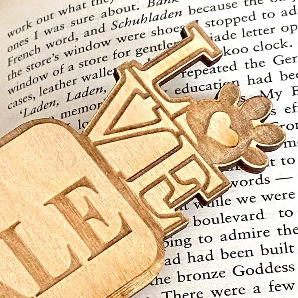 Personalised Any Breed Dog Lover Gift Wooden Bookmark - ukgiftstoreonline