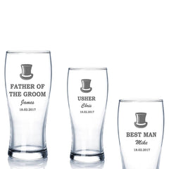 Personalised Wedding Beer Tankard Gift Best Man, Usher, Groomsman, Father Of the Groom, Father Of The Bride