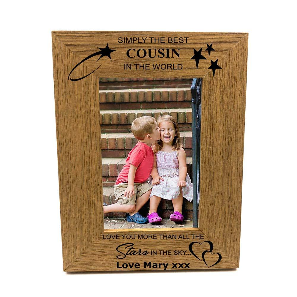 Personalised Best Cousin Portrait Wooden Photo Frame Gift - ukgiftstoreonline