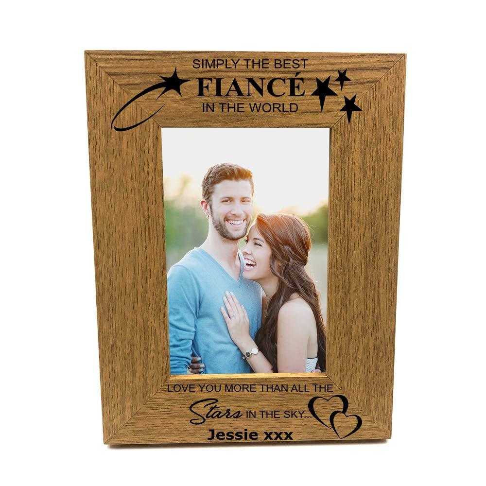 Personalised Best Fiance Portrait Wooden Photo Frame Gift - ukgiftstoreonline