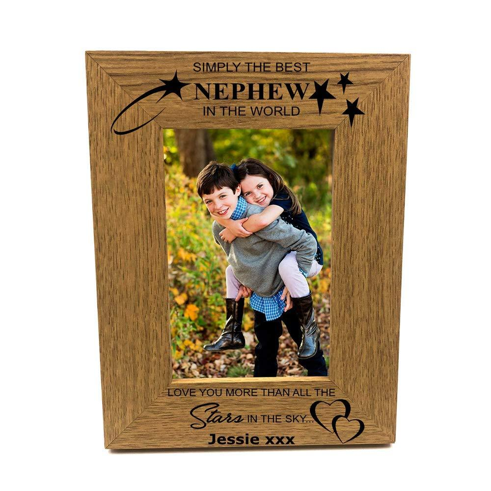 Personalised Best Nephew Portrait Wooden Photo Frame Gift - ukgiftstoreonline