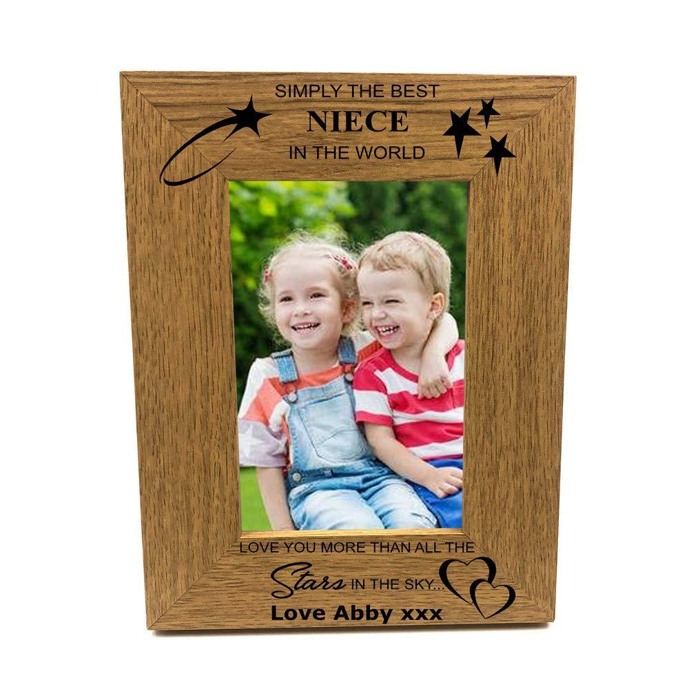 Personalised Best Niece Portrait Wooden Photo Frame Gift - ukgiftstoreonline