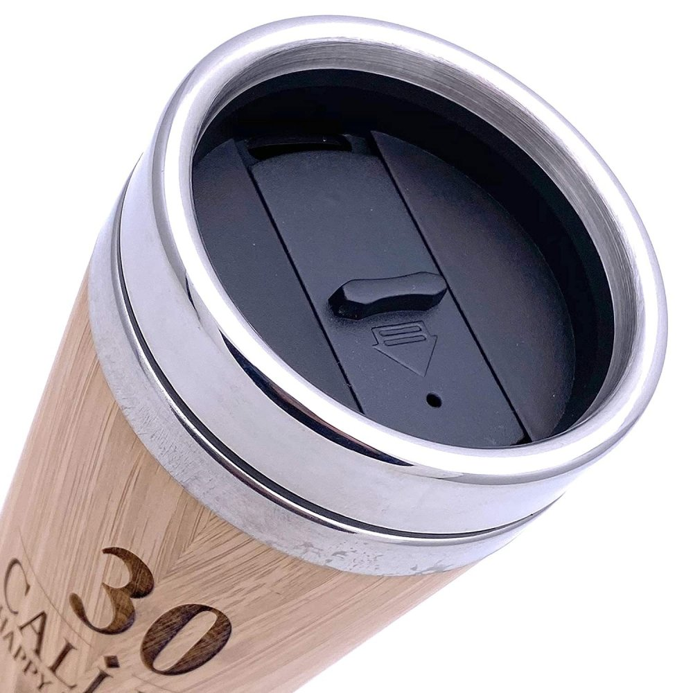 Personalised Birthday Bamboo Insulated Travel Mug Gift Any Age 18th, 21st, 30th, 40th, 50th, 60th, 70th, 80th - ukgiftstoreonline
