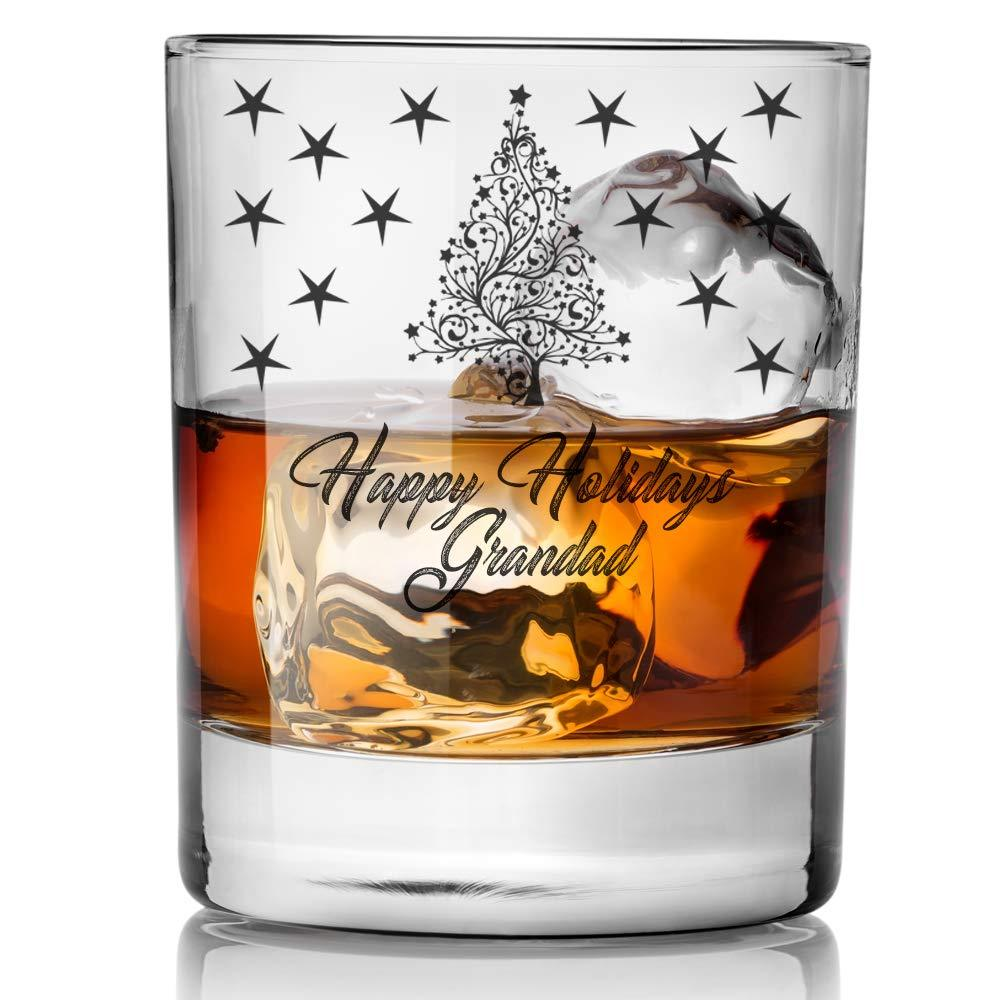 Personalised Christmas Theme Winter Holidays Whisky Glass Gift - ukgiftstoreonline