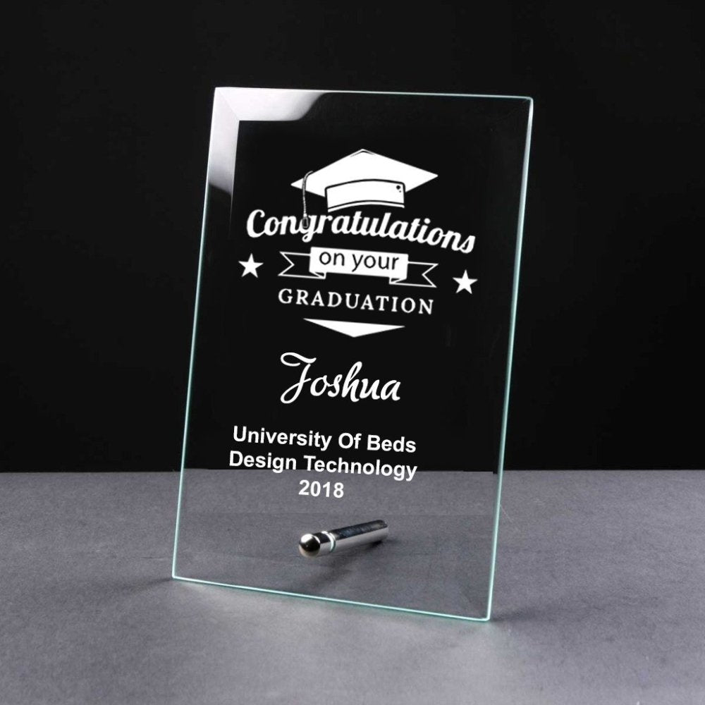Personalised Congratulations On Your GRADUATION Gift Glass Plaque - ukgiftstoreonline