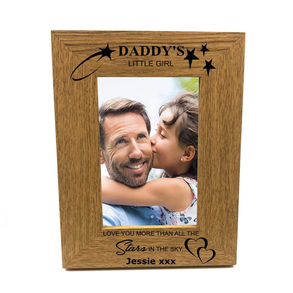 Personalised Daddy's Little Girl Portrait Wooden Photo Frame Gift - ukgiftstoreonline