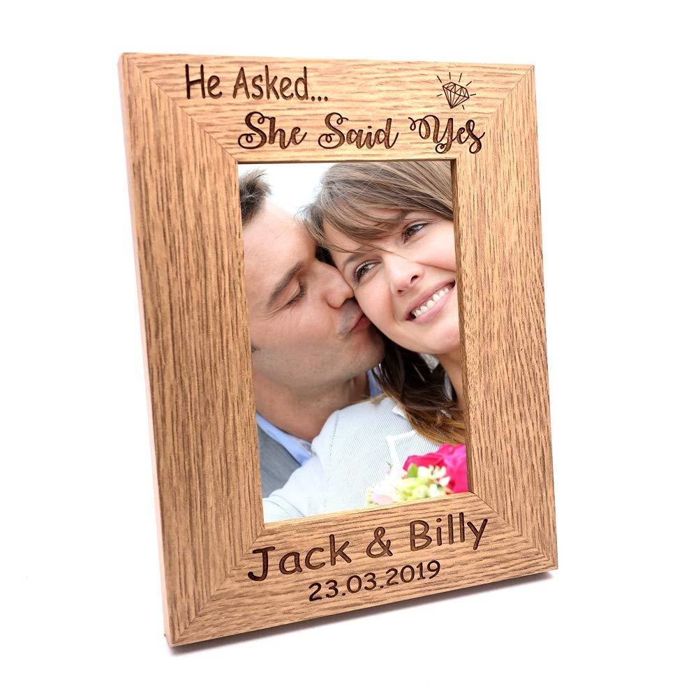 Personalised Engagement Gift Memories Portrait Photo Frame Gift - ukgiftstoreonline