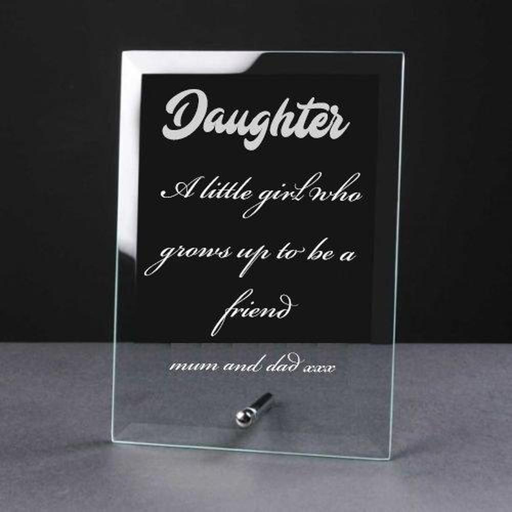 Personalised Engraved Glass Plaque Daughter Gift - ukgiftstoreonline