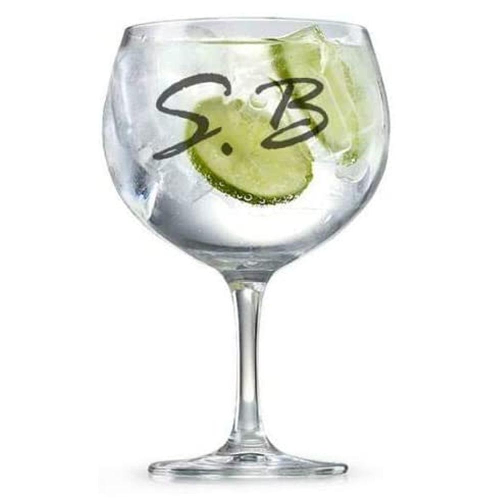 Personalised Engraved Name Initials Gin Glass Gift - ukgiftstoreonline