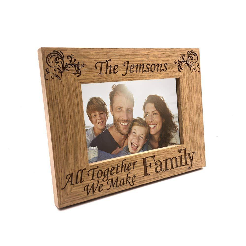 Personalised Family Wooden Photo Frame Gift - ukgiftstoreonline