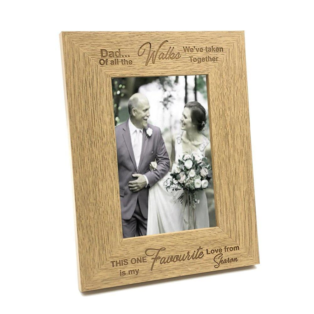 Personalised Father Of The Bride Gift Wooden Photo Frame - ukgiftstoreonline