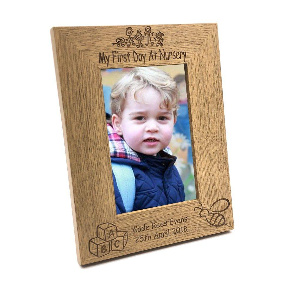 Personalised First Day At Nursery Photo Frame Gift - ukgiftstoreonline