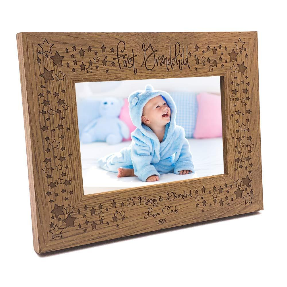 Personalised First Grandchild Wooden Photo Frame Gift - ukgiftstoreonline