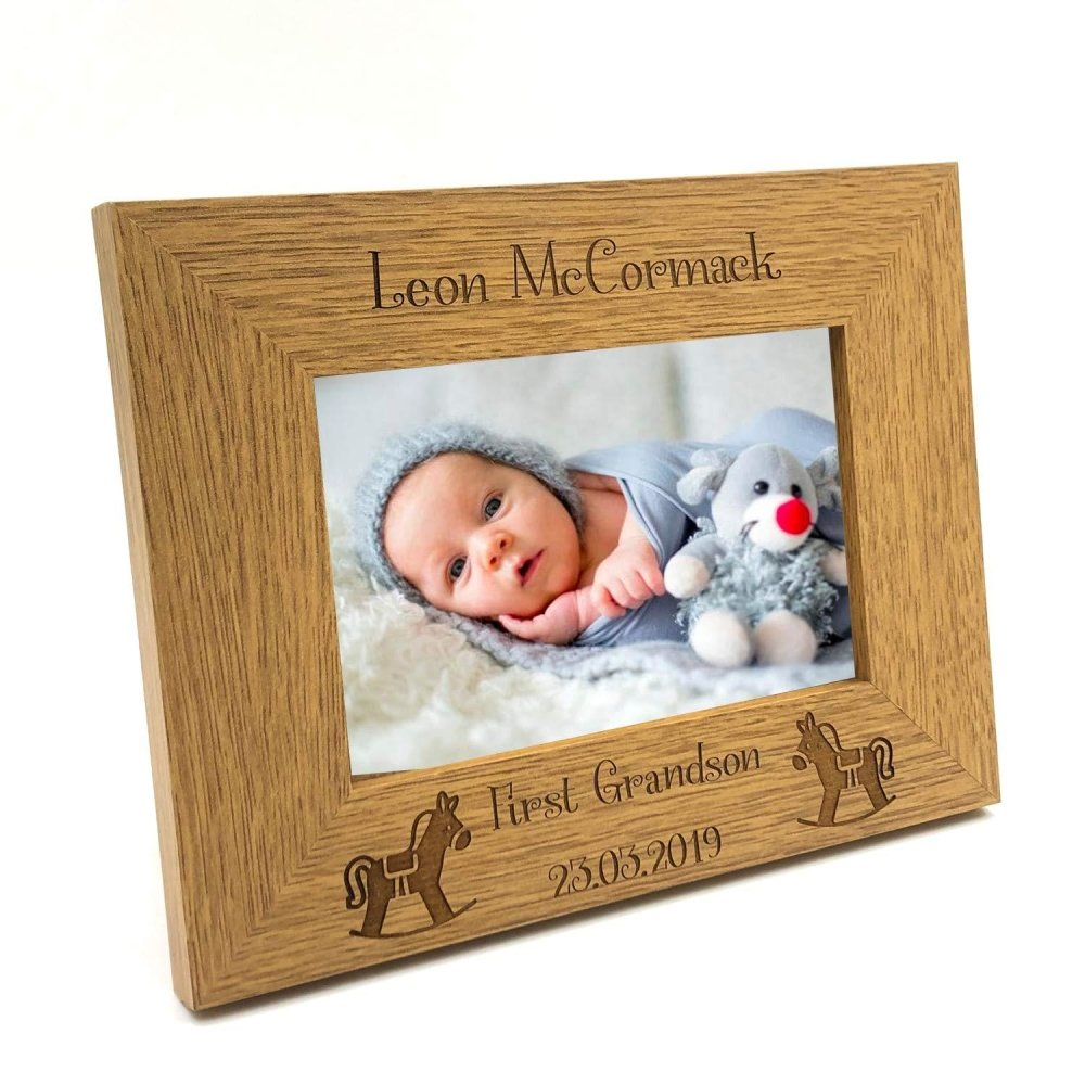 Personalised First Grandson Photo Frame Gift - ukgiftstoreonline