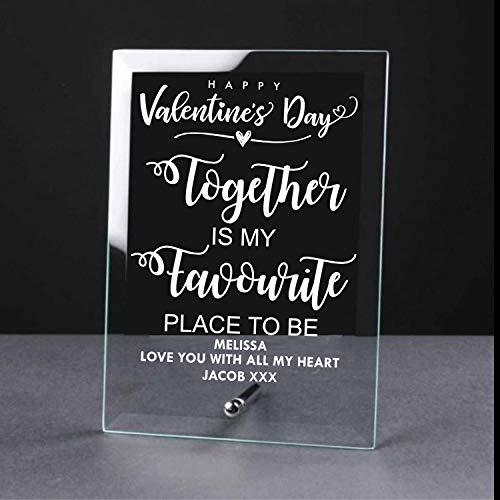 Personalised Glass Plaque Together My Favourite Place - ukgiftstoreonline