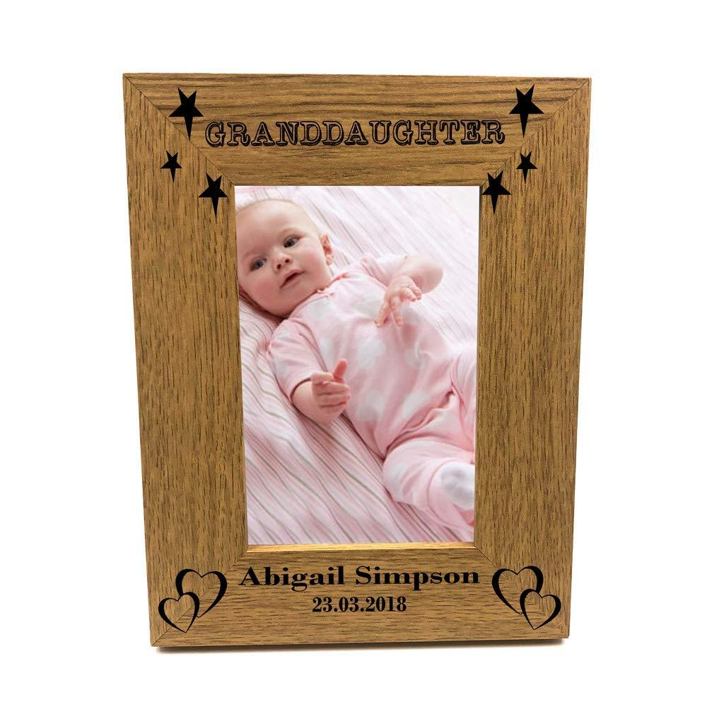 Personalised Granddaughter Portrait Wooden Photo Frame Gift - ukgiftstoreonline