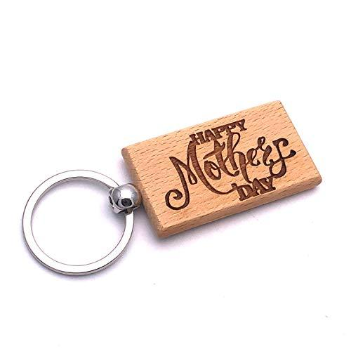 Personalised Happy Mothers Day Engraved Wooden Keyring Gift - ukgiftstoreonline