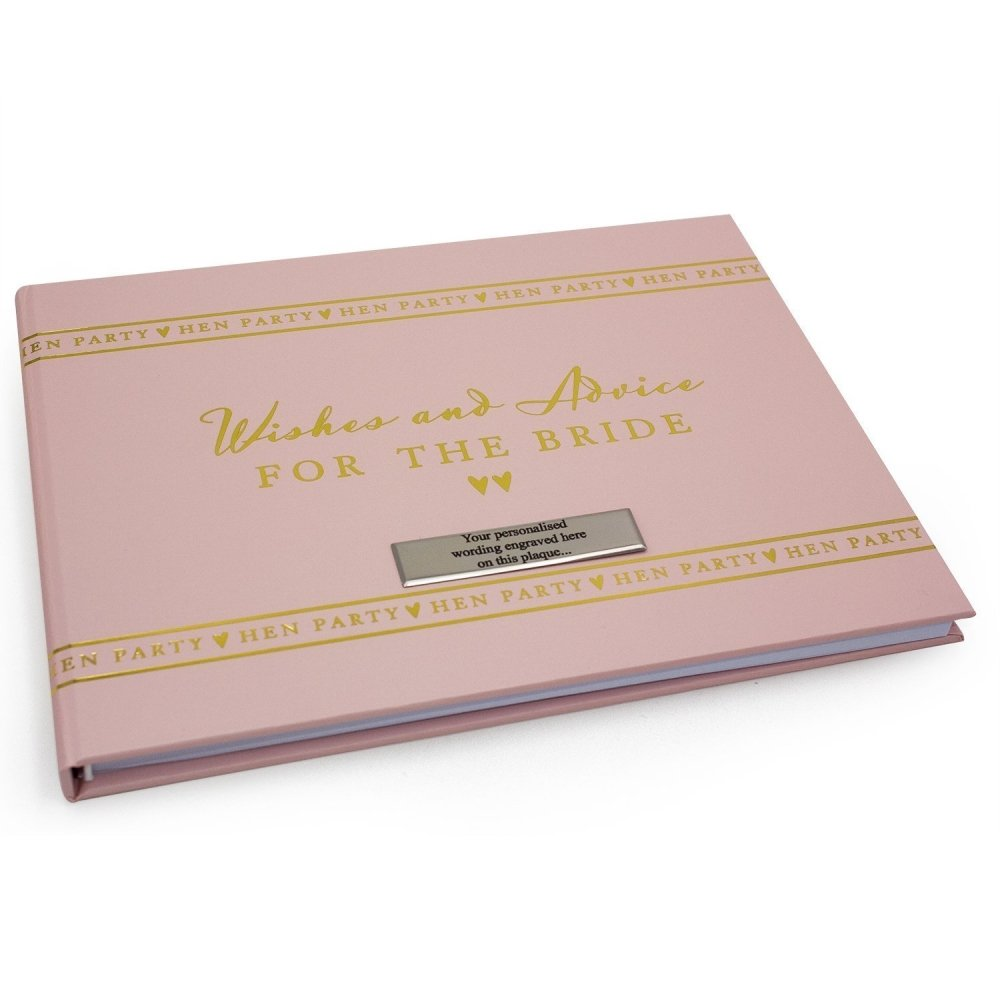Personalised Hen Party Bride To Be Guest Book - ukgiftstoreonline